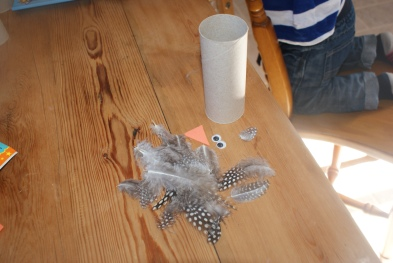 Toilet roll owl materials